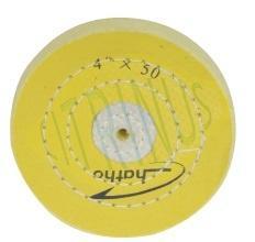 Roda de polimento para PM 100 em Musselina tratada, dura,  100 x 15 mm