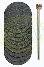 Conjunto de 10 discos de corte reforçados em Óxido de Aluminio 22mm