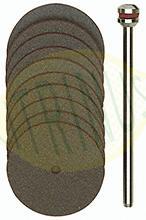 Conjunto de 10 discos de corte em Corindo 22mm