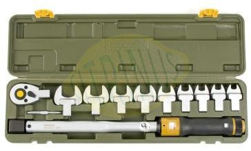 """Chave dinamométrica MC 200 em 1/2"""" com 10 acessórios - 40 a 200Nm"""