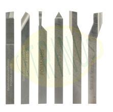 Conjunto de 6 ferros de corte rectificados em HSS Cobalto,  6x6x60mm