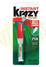 Cola instantanea cianoacrilato KrazyGlue em caneta 3ml