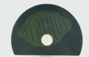 Disco de corte segmentado em aço rápido para OZI 220/E.