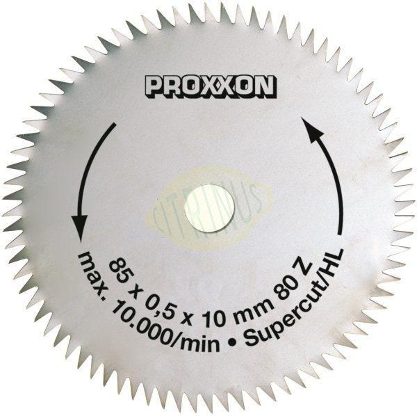 "Lâmina de disco ""super corte"" de 80 dentes, diâmetro 85x0,5x10mm"